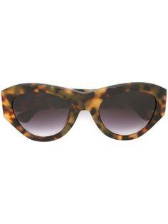 c6394c6e71d8 LINDA FARROW GALLERY 라운드 프레임 선글라스.  lindafarrowgallery  圆框太阳眼镜