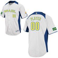 Brazil 2013 World Baseball Classic Authentic Personalized Home Jersey