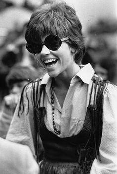 Jane Fonda at a music festival in 1969.