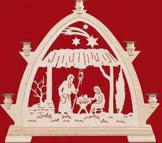 kleine gotische b gen f r wachskerzen weihnachtsmann mit. Black Bedroom Furniture Sets. Home Design Ideas