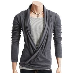 Doublju Mens Casual Cardigan Style Tshirts GRAY(WCT) 2XL Doublju, http://www.amazon.com/dp/B004REGXHY/ref=cm_sw_r_pi_dp_s6-0pb11DPQ6E