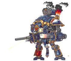 Pixel Imperial Knight by SteelJoe on DeviantArt Warhammer 40k Memes, Warhammer 40000, Warhammer Models, Warhammer Art, Warhammer Fantasy, Pixel Gif, Imperial Knight, Arte Robot, Robot Art