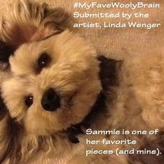 #myfavewoolybrain Linda is an amazing #needlefelter especially of #needlefelted #animal #portraits .