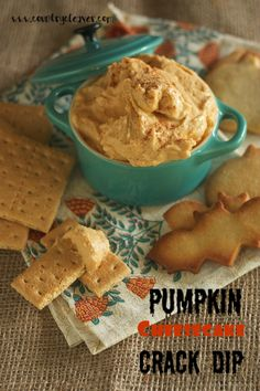 Pumpkin Cheesecake Crack Dip  - Only FOUR ingredients!! Perfect for dipping cookies, graham crackers and fruit!