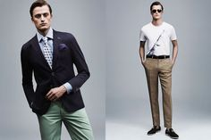 sarar-ss15 green pastel, blue, navy combination, funky tie and pocket square