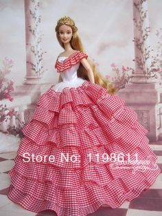 Hot Barbie Fashion Royalty Candi Flower Evening Dress Outfit Gown Body A 4 Barbie Gowns, Barbie Dress, Barbie Clothes, Barbie Fashion Royalty, Fashion Dolls, Red Gown Dress, Lace Dress, Gown Skirt, Barbie Girl Doll