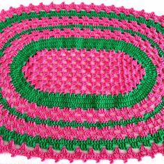 Crochet Table Mat, Crochet Placemats, Rugs, Home Decor, Crochet Carpet, Pink Rug, Cartas De Amor, Farmhouse Rugs, Interior Design