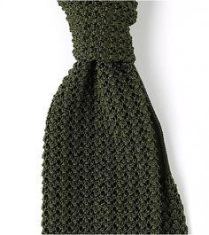 Drake's Loden Green Knit