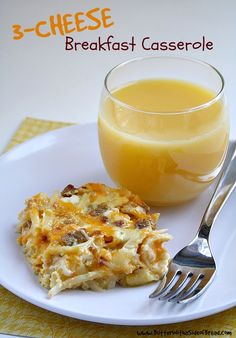Butter With a Side of Bread: 3-Cheese Breakfast Casserole