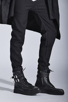 YES Rex Mens in Black at Solestruck.com Dark Fashion, Gothic Fashion, Mens Fashion, Tie Shoes, Men's Shoes, Bad Boy Style, Men's Style, Best Shoes For Men, Got The Look