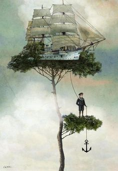 Catrin Welz-Stein | ArtisticMoods.com  ship in tree drop anchor  June 2013