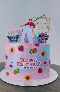 Bolos One Direction, One Direction Birthday, One Direction Cakes, Harry Styles Birthday, Harry Birthday, 16th Birthday, Pretty Birthday Cakes, Pretty Cakes, Cute Cakes