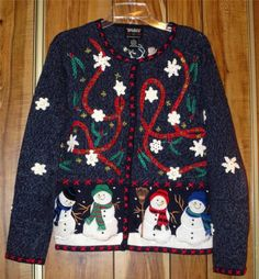Woman's Ugly Christmas Sweater - Designer's Originals Studio - Size Med Snowman Now $12.87
