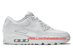 4db5075948229 Nike Wmns Air Max 90 Premium Metallic Silver 443817 100 Femme Enfant Nike  prix Pour Chaussures