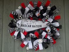 nascar wreath