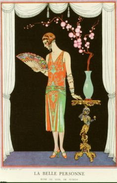 La Belle Personne, from Le Gazette Du Bon Ton, 1924 Artist: George Barbier