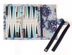 Fabric Backgammon Board w/pouch for pieces.