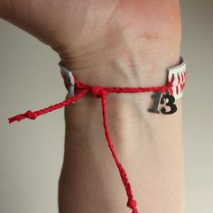 NUMBERED Baseball String Bracelet - double digit $16
