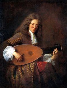 Jean François de Troy (French, 1679-1752). Charles Mouton, the Lutanist, 1690