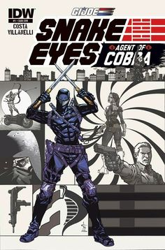 IDW Cover of the Day: GI Joe: Snake Eyes: Agent of Cobra #1