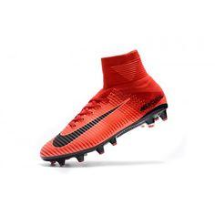 wholesale dealer 1a078 37697 Billiga Nike Mercurial Superfly V AG-Pro Herr Rod Svart Fotbollsskor Outlet