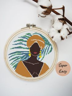 Abstract Embroidery, Floral Embroidery Patterns, Embroidery Hoop Art, Cross Stitch Tree, Modern Cross Stitch, Cross Stitch Patterns, Cross Stitches, Types Of Stitches, Contemporary Embroidery