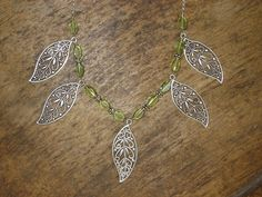 Oriental leaves necklace