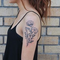 black poppy tattoo - Google Search                                                                                                                                                                                 More