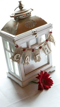 Cards box- rustic lantern Rustic Lanterns, Candle Lanterns, Candles, Decorative Boxes, Christmas Decorations, Lights, Wedding, Home Decor, Valentines Day Weddings
