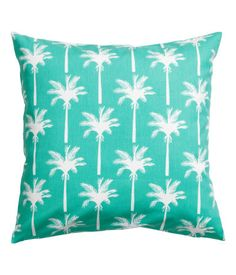 Cushion cover in cotton fabric with a printed pattern. Concealed zip.