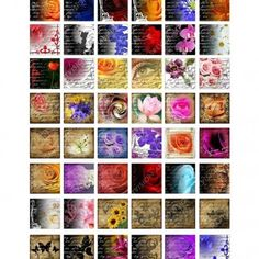 Free Printable Collage Sheets | FOR YOU... 1x1 inch Digital Images Collage Sheet Download and Print 25 ...