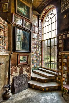 "This insanely gorgeous home has an amazing story behind it. "" Fonthill was the home of the American archeologist and tile maker Henry Chapman Mercer, in Doylestown, Pennsylvania. Built between 1908..."