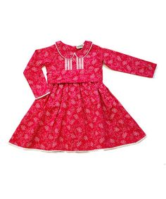 Take a look at this Raspberry Lena Dress - Infant, Toddler & Girls by Sophie Catalou on #zulily today!