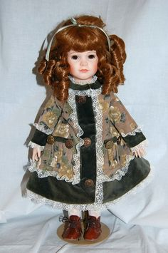 Victorian Style Doll Open and Shut Eyes Beautiful Period Clothing Porceline | eBay