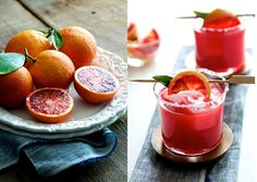 Kick back poolside with a Blood Orange Margarita.