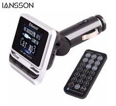 Unterhaltungselektronik Hifi-player Bluetooth Mp3 Spieler Fm Modulator Unterstützung Tf Karte Car Kit Dual Usb Charg-er Lcd Display Fm Transmitter Audio Für Auto