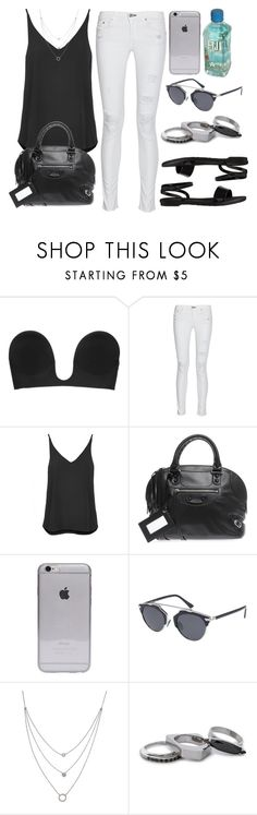 """""""Style #10026"""" by vany-alvarado ❤ liked on Polyvore featuring Fashion Forms, rag & bone, Topshop, Balenciaga, Christian Dior, Athra Luxe, Iosselliani and Old Navy"""