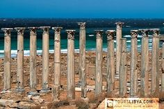 Marble columns of the Eastern Basilica at Apollonia.