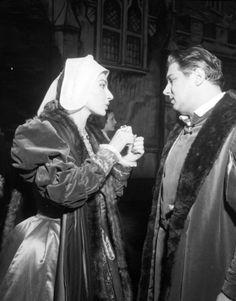 Maria Callas with Gianni Raimondi before a performance of Anna Bolena(Milan,1957).