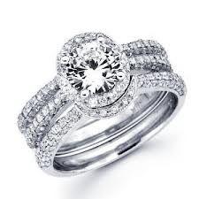 Wedding Ring Set Slide The Engagement Into Band