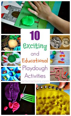 10 Exciting and Educational Playdough Activities. Click the picture to read more.