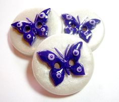 Polymer clay buttons by TessaAnn on Etsy:
