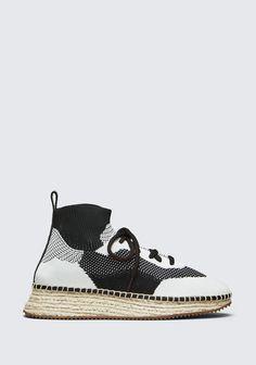 hot sale online e0167 47dba ALEXANDER WANG DAKOTA KNIT ESPADRILLE Baskets Adult 12 n f Espadrille  Sneakers, Espadrilles, Shoes Sneakers,