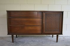 Mid Century Modern Sideboard Credenza  1950s by RetroTherapyRehab