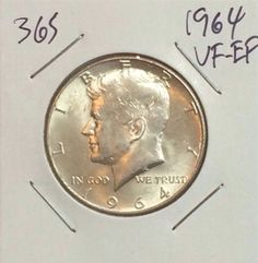 1964 KENNEDY HALF DOLLAR 90% SILVER CIRCULATED SILVER COIN #365