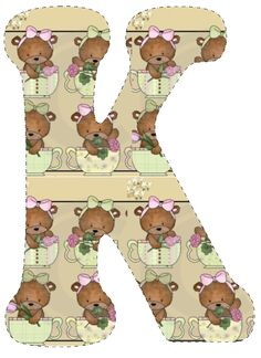 CH.B *✿* De Katia Artes Alfabeto Animal, Unfinished Business, Scooby Doo, Learning, Animals, Alphabet, Fictional Characters, Teddy Bears, Decorated Letters