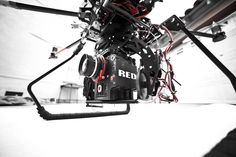 Red rigged on Quadcopter.