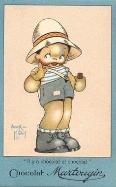 Béatrice Mallet - Illustration - Publicité - Chocolat Martougin
