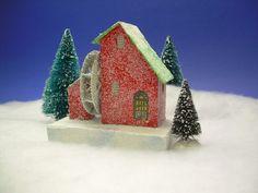 Glitter House, house and bottled-brush trees