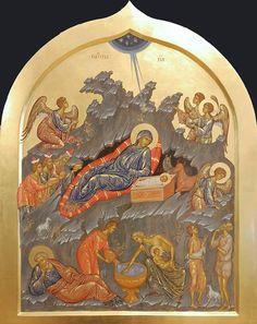 foto van N Theologhia Baba. Mosaic Portrait, Life Of Christ, Orthodox Icons, Home Deco, Fresco, Christianity, Vintage World Maps, Album, Pictures